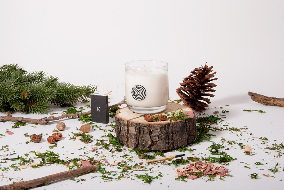 Keap Candles Wood Cabin scent | GoodBiz.co